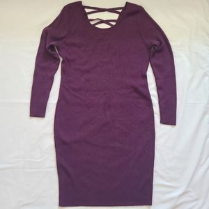 EUC Rue 21+ Plus Size Plum Ribbed Bodycon Dress